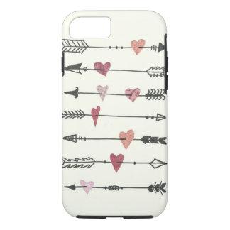 Coque iPhone 7 coeurs et flèches