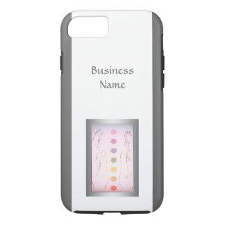 Coque iPhone 7 Conception curative holistique argentée de mains