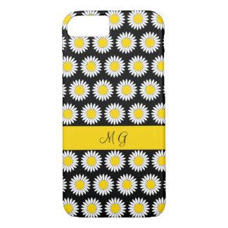 Coque iPhone 7 Conception Girly de motif floral de monogramme