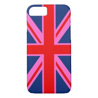 Coque iPhone 7 Conception moderne de drapeau anglais pour