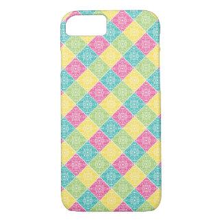 Coque iPhone 7 Conception multicolore de spirales de diamant -