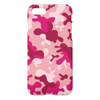 Coque iPhone 7 Conception rose Girly de motif de camouflage