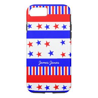 Coque iPhone 7 Couleurs de drapeau des Etats-Unis de motif de