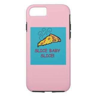 Coque iPhone 7 couverture de pizza de tranche de bébé de tranche
