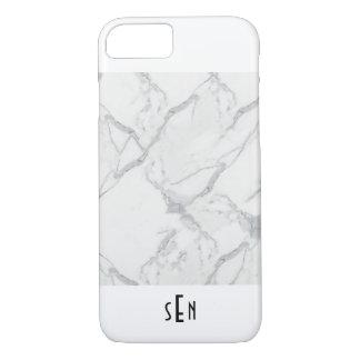 Coque iPhone 7 Couverture lisse de marbre moderne personnalisée