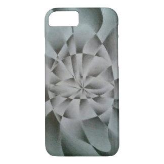 Coque iPhone 7 Croquis abstrait noir et de blanc d'oeil