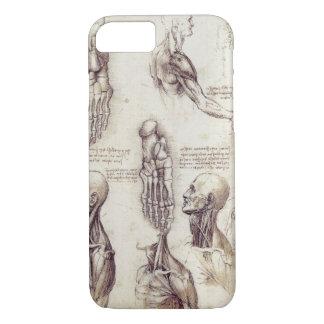 Coque iPhone 7 Croquis médicaux de Leonardo da Vinci, parties du