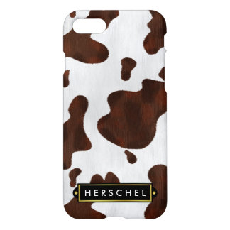 Coque iPhone 7 Cuir occidental de Faux de peau de vache repéré