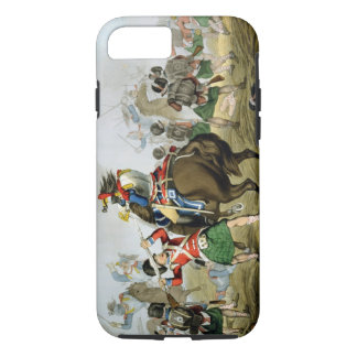 Coque iPhone 7 Cuirassiers français à la bataille de waterloo,