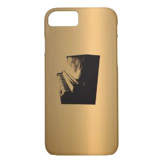 Coque iPhone 7 Cuivre-Effet en bronze de piano