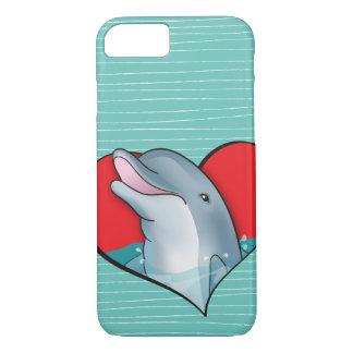 Coque iPhone 7 Dauphins de coeur