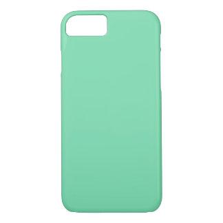 Coque iPhone 7 ~ de VERT de MOUSSE de MER (couleur solide)