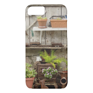 Coque iPhone 7 Décorations sur la barrière en bois, île de