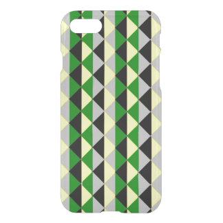 Coque iPhone 7 Diamants verts et gris noirs