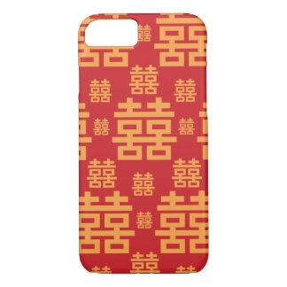Coque iPhone 7 Double symbole de Chinois de bonheur