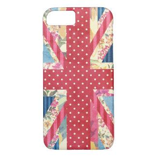 Coque iPhone 7 Drapeau | britannique chic minable