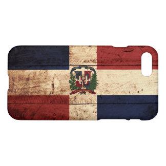 Coque iPhone 7 Drapeau de la République Dominicaine sur le vieux