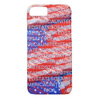 Coque iPhone 7 Drapeau de pays patriotique des Etats-Unis