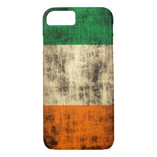Coque iPhone 7 Drapeau irlandais grunge