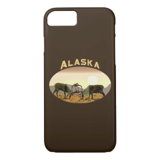 Coque iPhone 7 Duel de caribou - Alaska