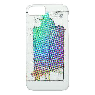 Coque iPhone 7 État de l'Iowa multicolore