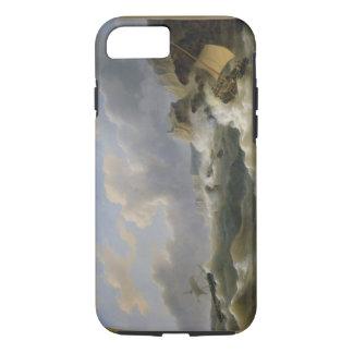 Coque iPhone 7 Expédition outre d'un littoral en mer agitée