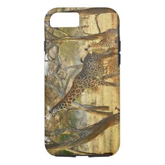Coque iPhone 7 Femelle adulte et girafe juvénile, Giraffa