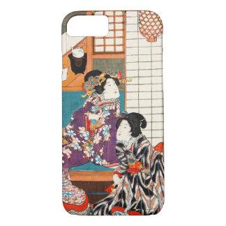 Coque iPhone 7 Femme vintage japonaise Maiko de dame de geisha de