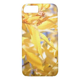 Coque iPhone 7 Feuille d'automne jaune