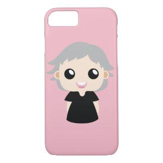 Coque iPhone 7 Fille avec les cheveux gris