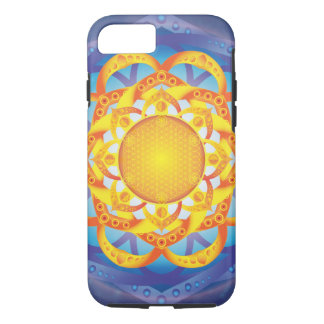 Coque iPhone 7 Fleur de mandala de la vie