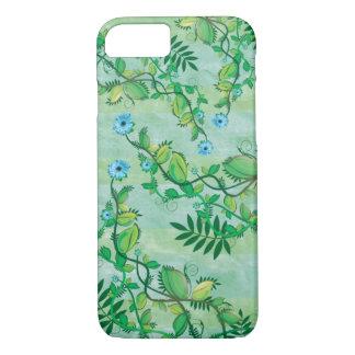 Coque iPhone 7 Fleurs bleues de floraison d'escalade