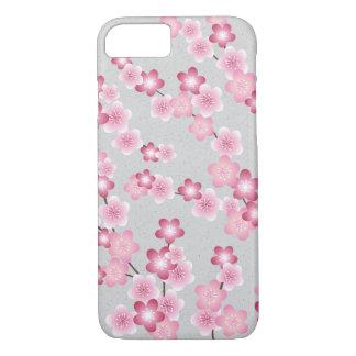 Coque iPhone 7 Fleurs de fleurs de cerisier de ressort sur le
