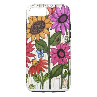 Coque iPhone 7 Fleurs lumineuses de barrière