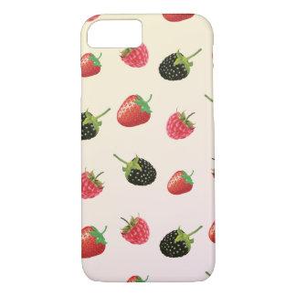 Coque iPhone 7 Fraise, Blackberry, framboise : fruit délicieux