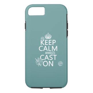 Coque iPhone 7 Gardez le calme et moulez dessus - toutes les