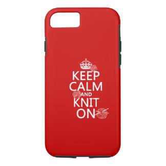 Coque iPhone 7 Gardez le calme et tricotez dessus - toutes les