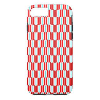 Coque iPhone 7 Géométrique bleu blanc rouge de vecteur