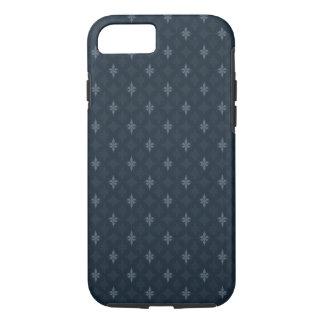 Coque iPhone 7 Gris de bleu marine - concevez pour les hommes -