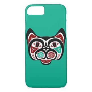 Coque iPhone 7 Haida du nord-ouest Kitty de Côte Pacifique