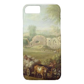 Coque iPhone 7 Haycart passant une abbaye ruinée, c.1740-50