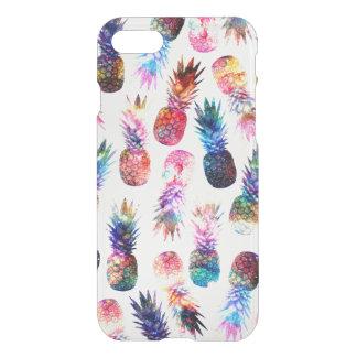 Coque iPhone 7 illustration d'ananas d'aquarelle et de nébuleuse