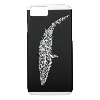 Coque iPhone 7 Illustration graphique tribale de petite baleine