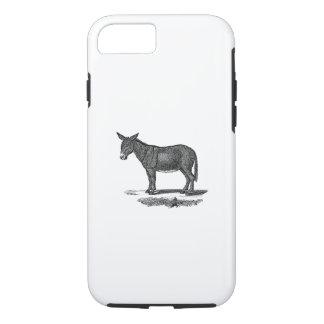 Coque iPhone 7 Illustration vintage d'âne - ânes 1800's