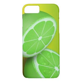 Coque iPhone 7 Image verte mignonne et belle d'été de chaux