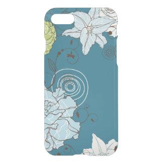 Coque iPhone 7 Imaginaire floral bleu abstrait
