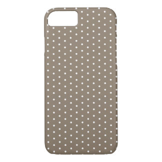 Coque iPhone 7 iPhone bronzage foncé 7 de point de polka
