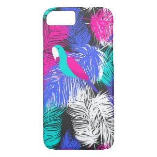 Coque iPhone 7 iPhone de motif de plume de perroquet 7 cas