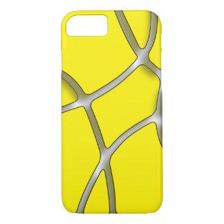 Coque iPhone 7 iPhone jaune 7 de labyrinthe, à peine là