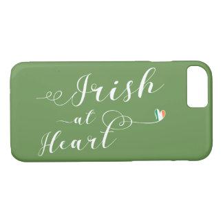 Coque iPhone 7 Irlandais au cas de téléphone portable de coeur